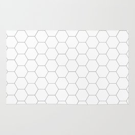 Honeycomb black and white pattern Rug