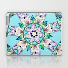 floral star mandala Laptop & iPad Skin