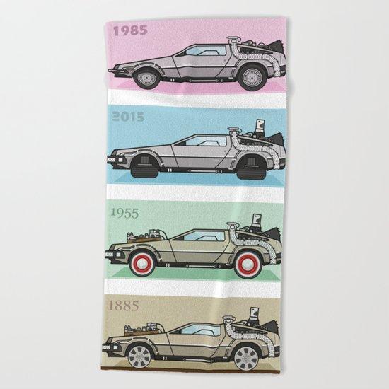Back to the Future - Delorean x 4 Beach Towel