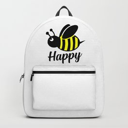 Bee happy feel good Design Backpack