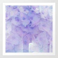 hydrangea Art Prints featuring hydrangea by clemm