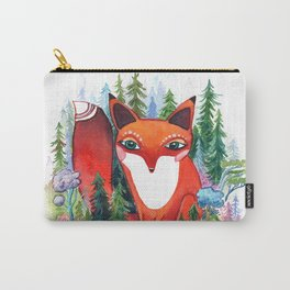 Forest Spirit Red Fox Totem Carry-All Pouch