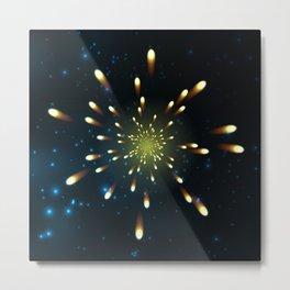 Firework  Shining Metal Print