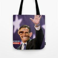 american psycho Tote Bags featuring American Psycho - 4 by Marko Köppe