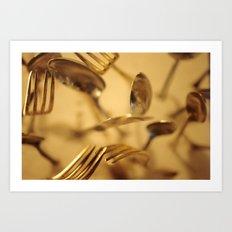 Cutlery Vortex Art Print