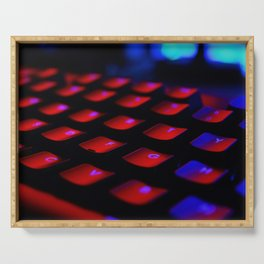 Midnight Coding | colorful keyboard Serving Tray