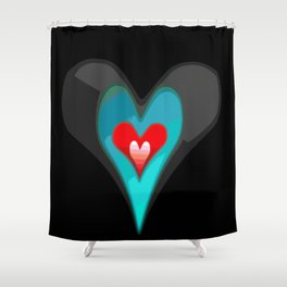 Heart worth fighting for. Shower Curtain