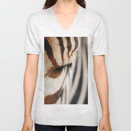 Zebra style Unisex V-Neck