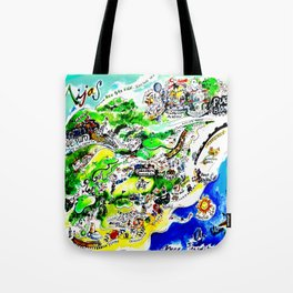 Mijas Map Tote Bag