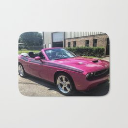 Fuchsia Panther Pink Limited Edition Convertible Challenger RT Bath Mat
