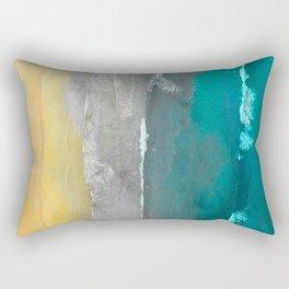 Watercolour Summer beach II Rectangular Pillow