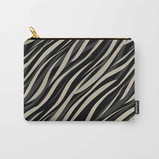 Tiger abstract striped pattern . Carry-All Pouch