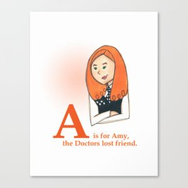 A is for Amy Canvas Print