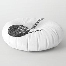 Black Guitar Floor Pillow
