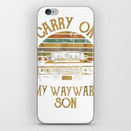 Carry on my Wayward Son TShirt - Vintage Tee Shirt Gift iPhone Skin