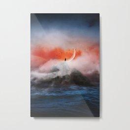 on the wave Metal Print