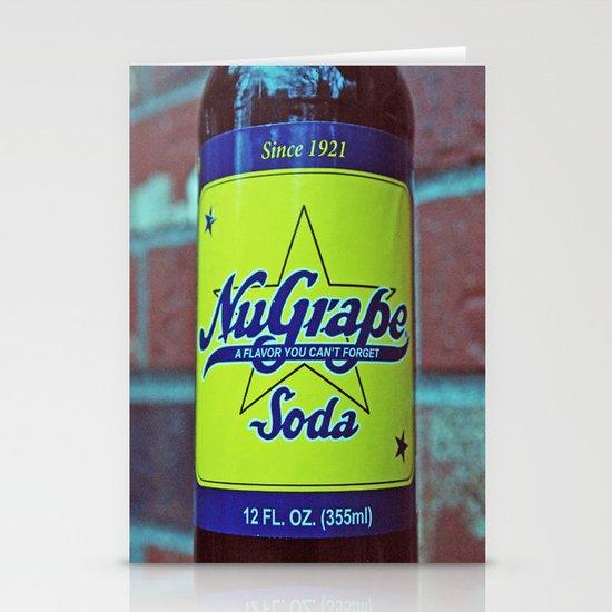 NuGrape classic soda Stationery Cards