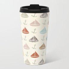 boats and anchors pattern Metal Travel Mug