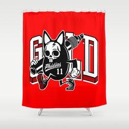 Phidias Gold x Zach Shuta Shower Curtain