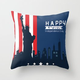 Happy Fourth of July America!  Throw Pillow
