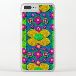 Big flower power to the people Clear iPhone Case