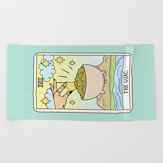 GUAC READING Beach Towel