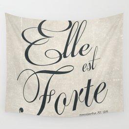 Elle est Forte Wall Tapestry