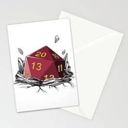 Critical Roll DM Tabletop Gaming Gift Dragons D20 Dice Set Print Stationery Cards