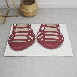 Red Sandals Rug