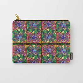 Stained Glass Pot Leaves Carry-All Pouch