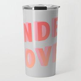 Undercover - Typography Travel Mug