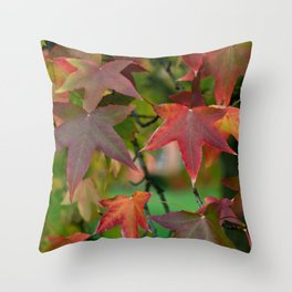 Maple Shapes Throw Pillow