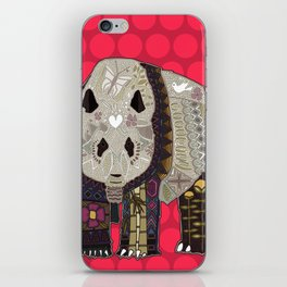 chocolate panda red iPhone Skin