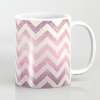chevron Mugs featuring CHEVRoN by Monika Strigel
