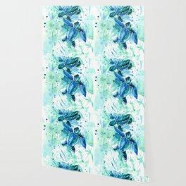 Turquoise Blue Sea Turtles in Ocean Wallpaper