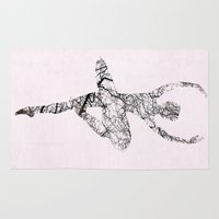 ballerina Area & Throw Rugs featuring Ballerina by Christophe Chiozzi