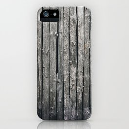 dark vertical wood iPhone Case