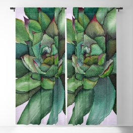 Watercolour succulent petals Blackout Curtain