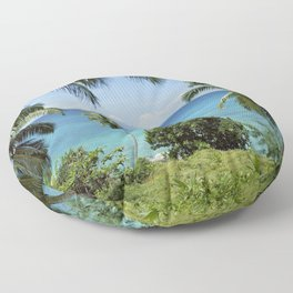Terese island, the Seychelles Floor Pillow
