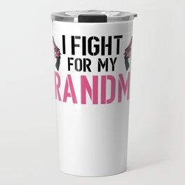 Breast Cancer Awareness Art For Warrior Women Light Travel Mug