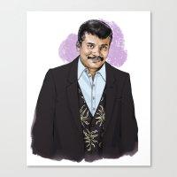 neil gaiman Canvas Prints featuring Neil by Myrtle Quillamor