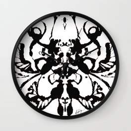 Mapping the Internal Landscape Wall Clock
