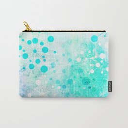 Watercolor Retro Blue Carry-All Pouch