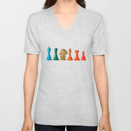 Chess Pieces Unisex V-Neck