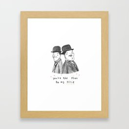Laurel & Hardy Framed Art Print