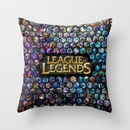 League of Legends - Champions! Throw Pillow