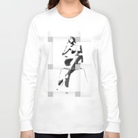 popart Long Sleeve T-shirts featuring Chair PopArt by C R Clifton Art