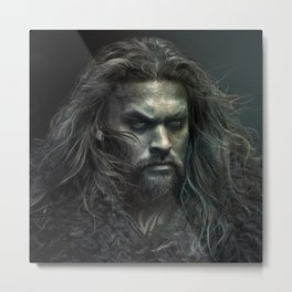 New Aquaman - Jason Momoa portrait Metal Print