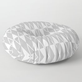 Mid Century Modern Diamond Pattern Gray 234 Floor Pillow