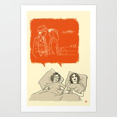Woody and Diane and Humphrey and Ingrid Art Print